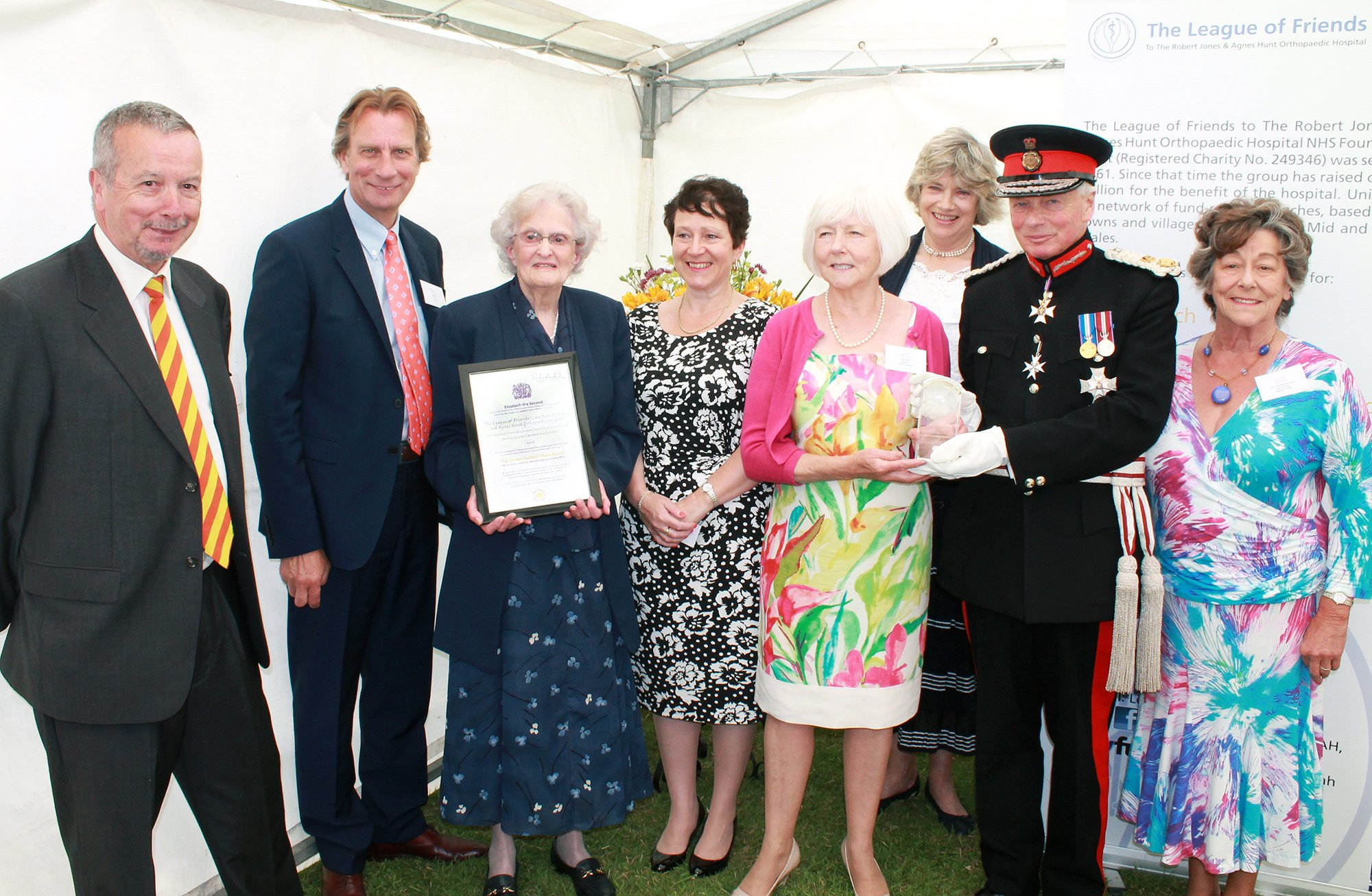 The League of Friends awarded 'The Queens Award for Voluntary Service' the MBE